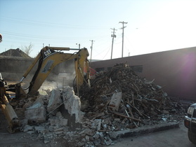 Demolition of former Central Liqour Building at 2159 Central Ave.